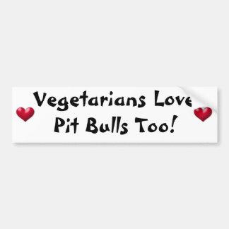 Pitbull do amor dos vegetarianos demasiado! Autoco Adesivo Para Carro