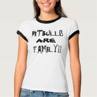 Pitbulls É família!  O t-shirt das mulheres