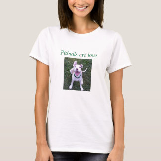 Pitbulls é t-shirt do amor