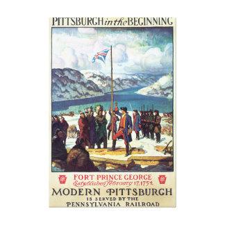 Pittsburg no poster das viagens vintage do começo