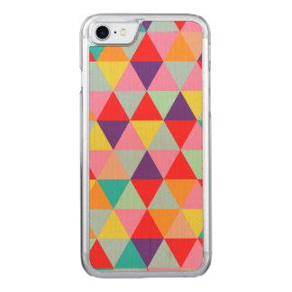 PixDezines geométrico/verde/laranja/cerceta Capa iPhone 7 Carved