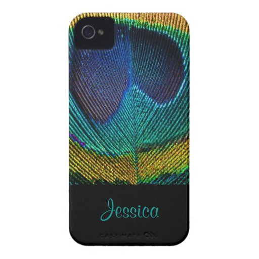 PixDezines Psychedellic Peacock/DIY Capas iPhone 4 Case-Mate