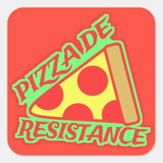 Pizza de Resistência Adesivo Quadrado