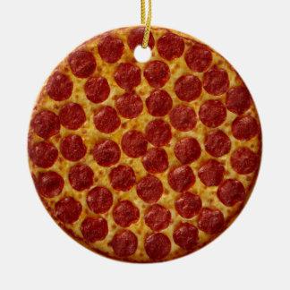Pizza Ornamento De Cerâmica Redondo