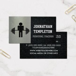 Placa áspera do diamante e instrutor pessoal de cartão de visitas
