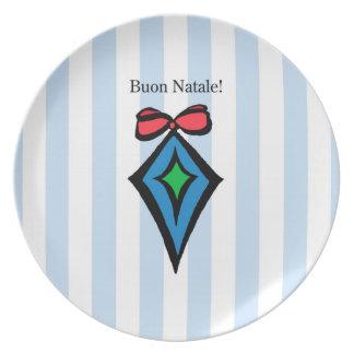 Placa BL da melamina do ornamento do diamante de Pratos De Festas