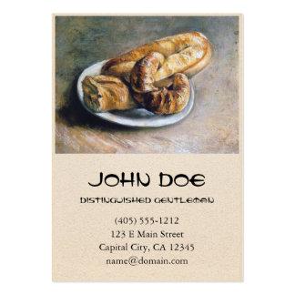 Placa com pão por Vincent van Gogh Cartão De Visita Grande