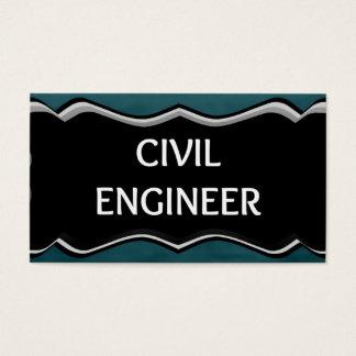 Placa conhecida elegante de engenheiro civil cartão de visitas