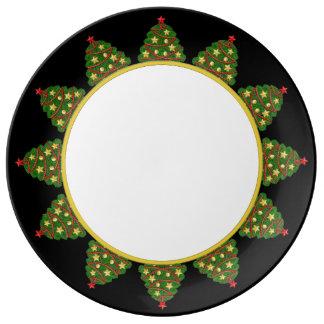 Placa da árvore de Natal Pratos De Porcelana
