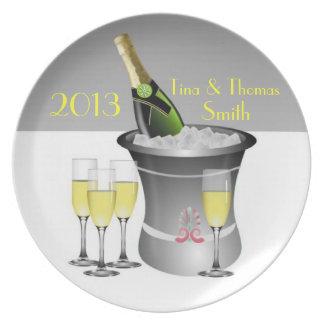 Placa da celebração de Champagne Louça De Jantar