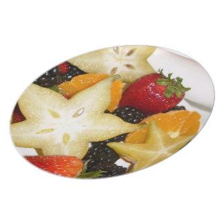 Placa da fruta pratos
