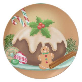 Placa da melamina da sobremesa do Natal Pratos De Festas