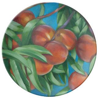 Placa da porcelana dos pêssegos pratos de porcelana