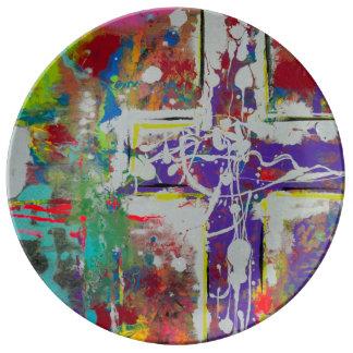 Placa de comensal da ressurreição louça