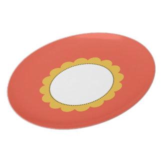 Placa de comensal de Sunflower_Sun__Plates dos Pratos