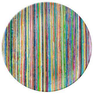 Placa de comensal do rolo do arco-íris louça de jantar