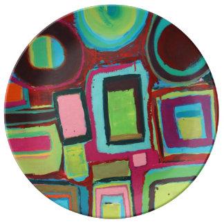 Placa de comensal oito preguiçosa prato