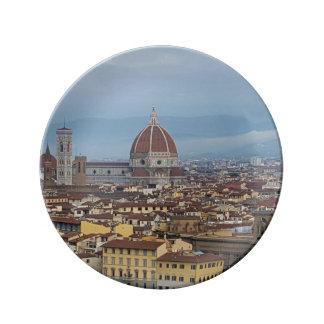 Placa de Florença Prato De Porcelana