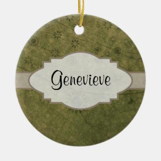 Placa de identificação abstrata floral retro da ornamento de cerâmica redondo