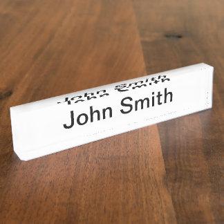 Placa de identificação da mesa