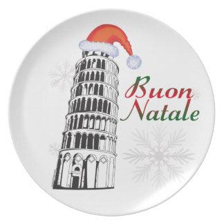 Placa de Pisa Buon Natale Prato