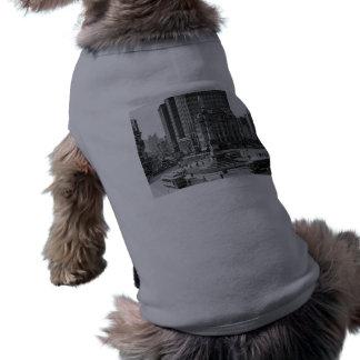 Placa de vidro do vintage do círculo de Columbo Camisa Sem Mangas Para Cachorro