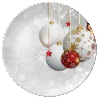 Placa decorativa do Natal Prato De Porcelana
