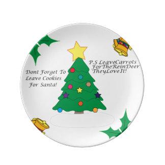 Placa do biscoito do Natal Prato De Porcelana