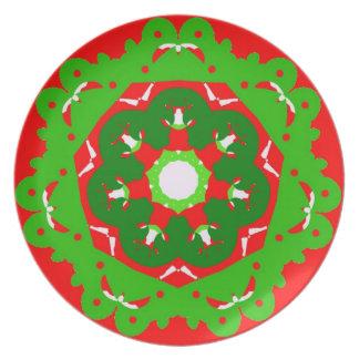 Placa do Natal Pratos