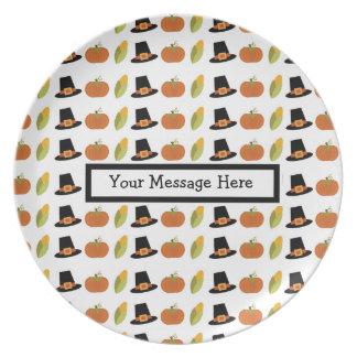 Placa feita sob encomenda da acção de graças pratos