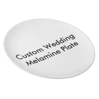 Placa feita sob encomenda da melamina do casamento pratos
