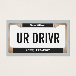 Placa licenciada do carro legal do serviço do táxi cartão de visitas