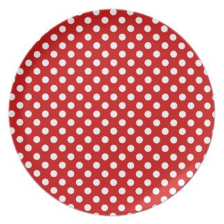 Placa vermelha e branca das celebrações das louças de jantar
