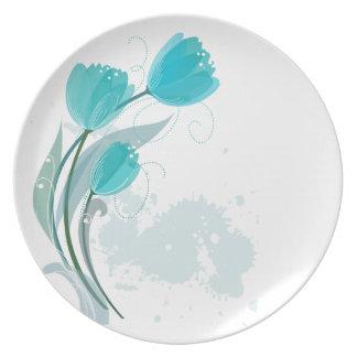 Placas da melamina das tulipas do primavera da louça de jantar