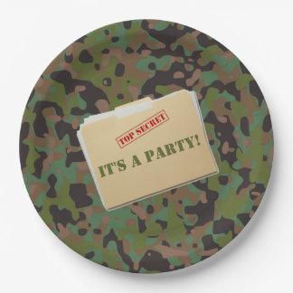 Placas de comensal do papel do partido da prato de papel