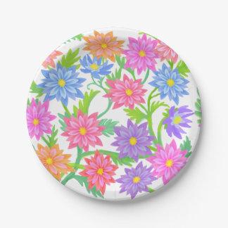 Placas de papel florais do jardim inglês