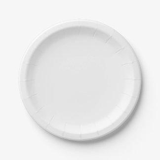 Placas de papel pequenas prato de papel
