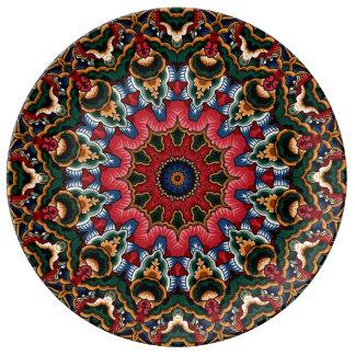 Placas decorativas & azulejos do Majolica italiano Prato De Porcelana