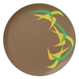 Placas nao básicas domésticas do Bumerangue de Louças De Jantar