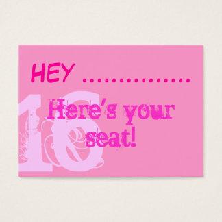 Placecards cor-de-rosa bonito do partido do doce cartão de visitas