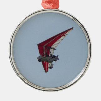 Planador de cair psto ornamento redondo cor prata