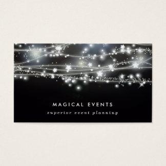 Planeamento e entretenimento Sparkling do evento Cartão De Visita