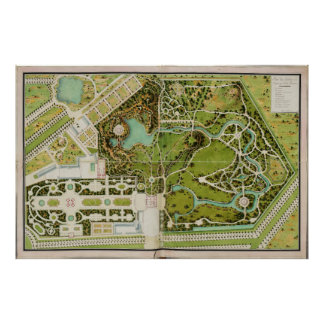 Planeie du jardin e castelo de la Reine Poster