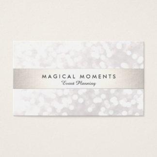 Planejador branco do casamento e de evento de cartão de visita