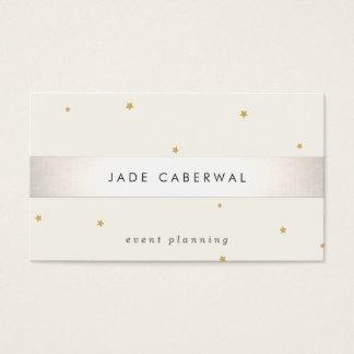 Planejador de evento listrado da estrela do ouro cartão de visita