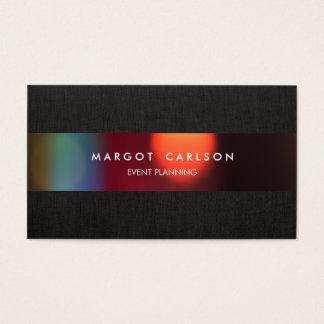 Planejador e entretenimento de evento colorido de cartão de visitas