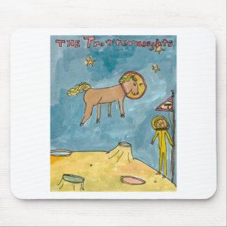 Planeta do cavalo do espaço mouse pads