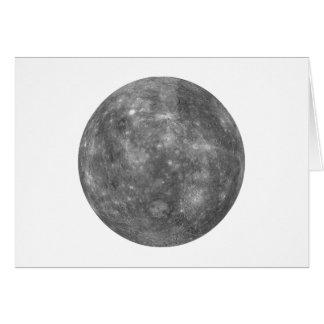 PLANETA MERCURY (sistema solar) ~~.png Cartão Comemorativo