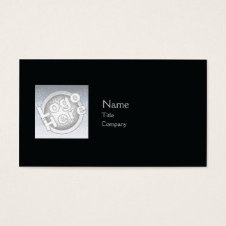 Planície preta - negócio cartão de visitas