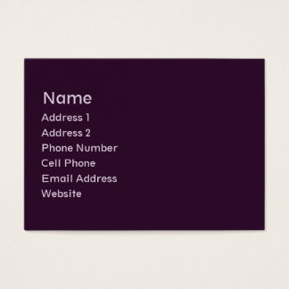 planície roxa escura cartão de visitas